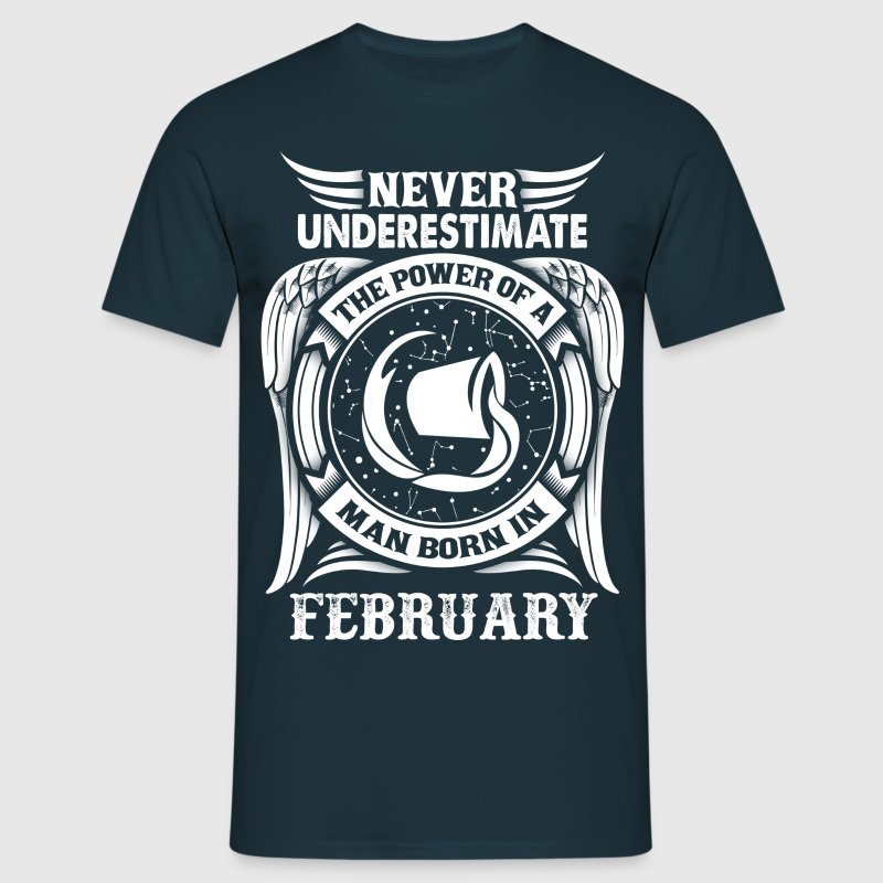 ...Power Of A Man Born In February, Aquarius Sign T-Shirts - Men's T-Shirt