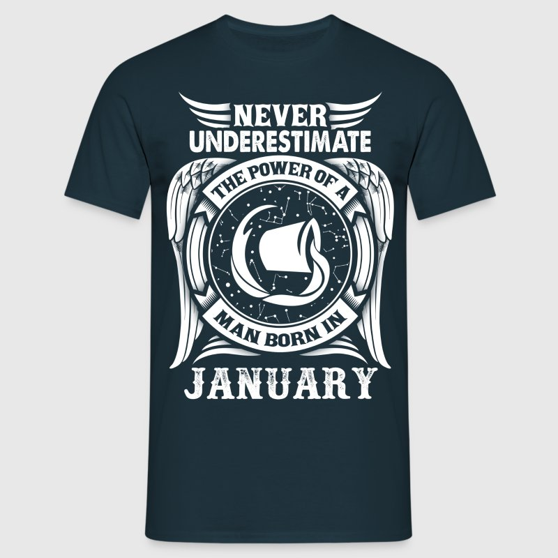 ...Power Of A Man Born In January, Aquarius Sign T-Shirts - Men's T-Shirt