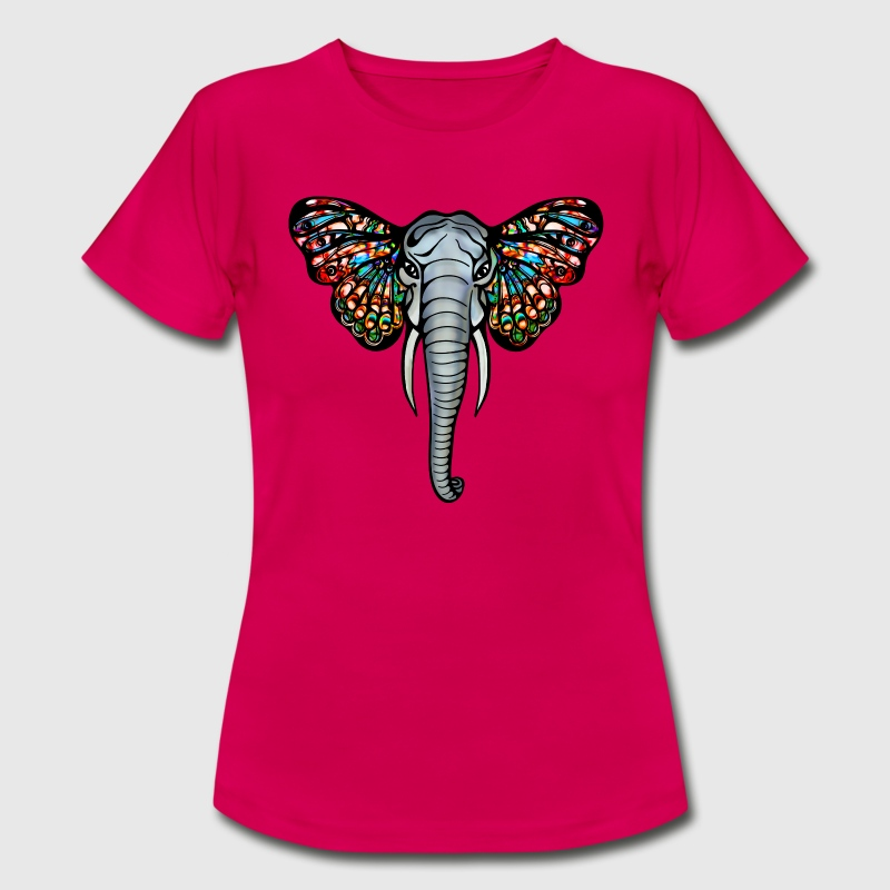 Elefant mit Schmetterling Ohren, Afrika, Safari T-Shirts - Frauen T-Shirt