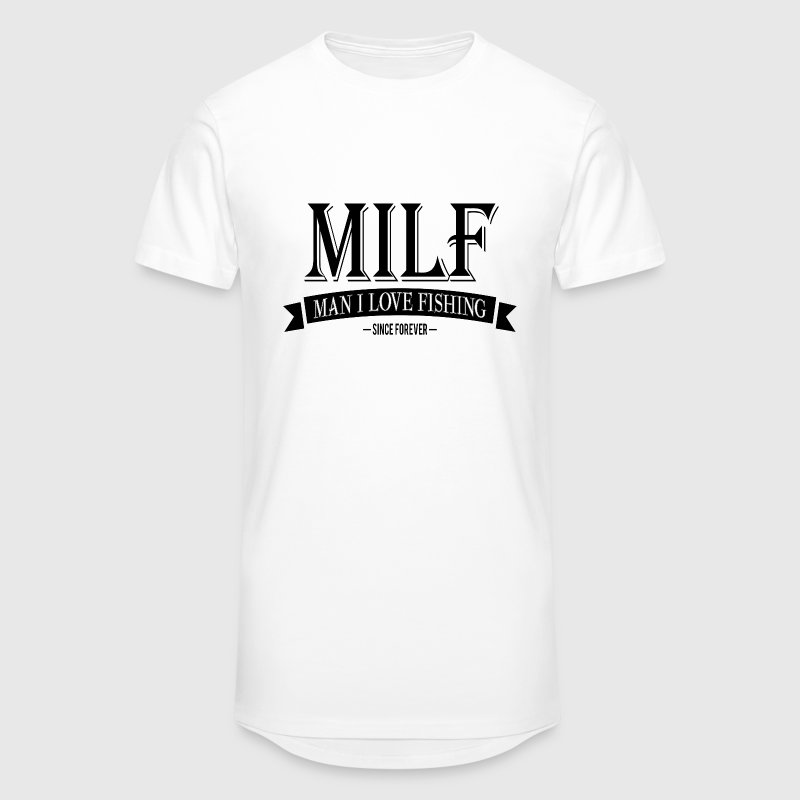 MILF / Man I Love Fishing / black T-skjorter - Urban lang T-skjorte for menn