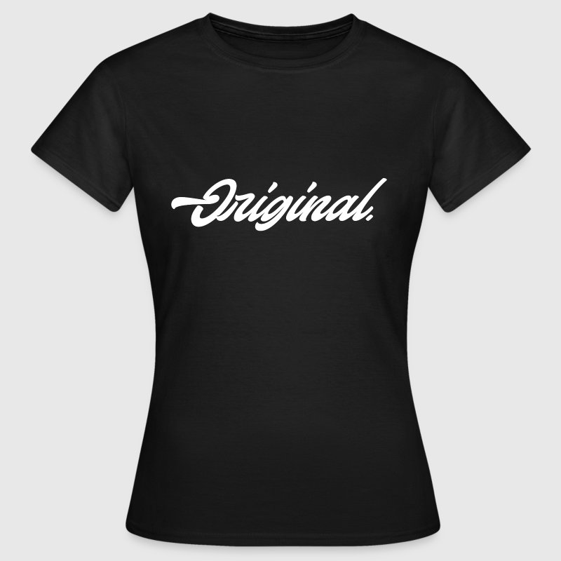 Original Lettering [White] - Women's T-Shirt