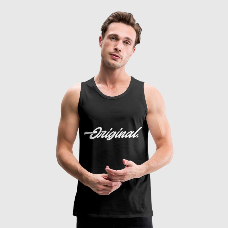 Original Lettering [White] - Men's Premium Tank Top