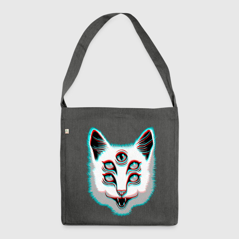 Glitch Cat - Shoulder Bag made from recycled material