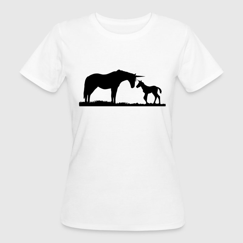 Unicorns - Unicorn mother and baby T-Shirts - Women's Organic T-shirt