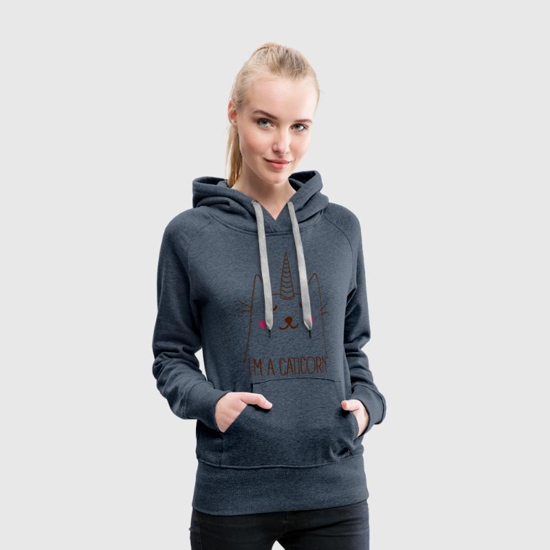 Caticorn Sweat-shirts - Sweat-shirt à capuche Premium pour femmes