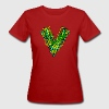 V like vegan, vegetarian, plant power, save earth T-shirts - Organic damer