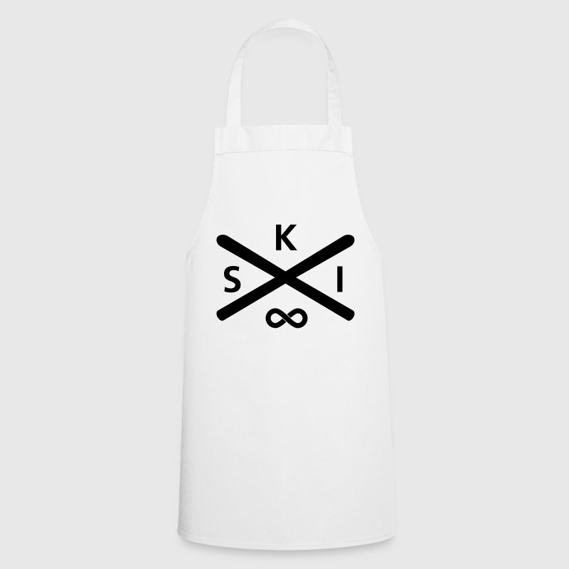 Ski Forever (Infinity Symbol)  Aprons - Cooking Apron
