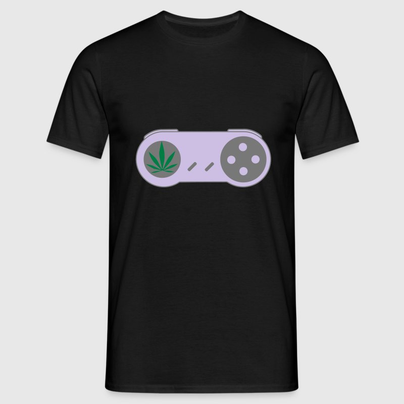 PLAY HiGH Retro Weed Gamer Controller T-Shirts - Men's T-Shirt