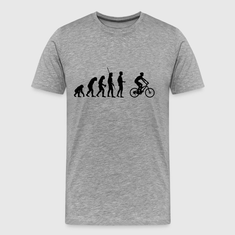 Evolution mountainbikere T-shirts - Herre premium T-shirt