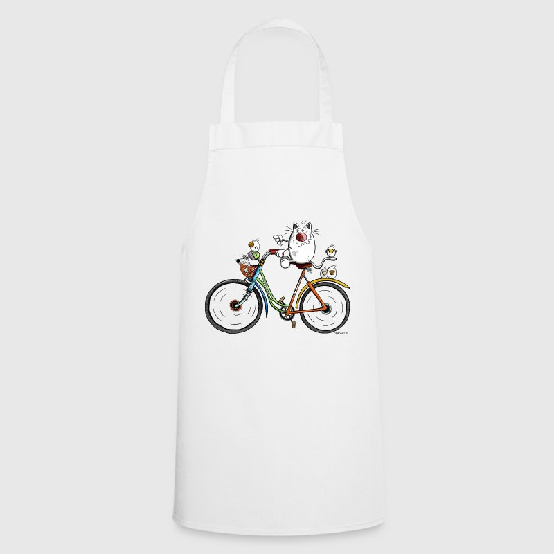 Cat is cycling  Aprons - Cooking Apron