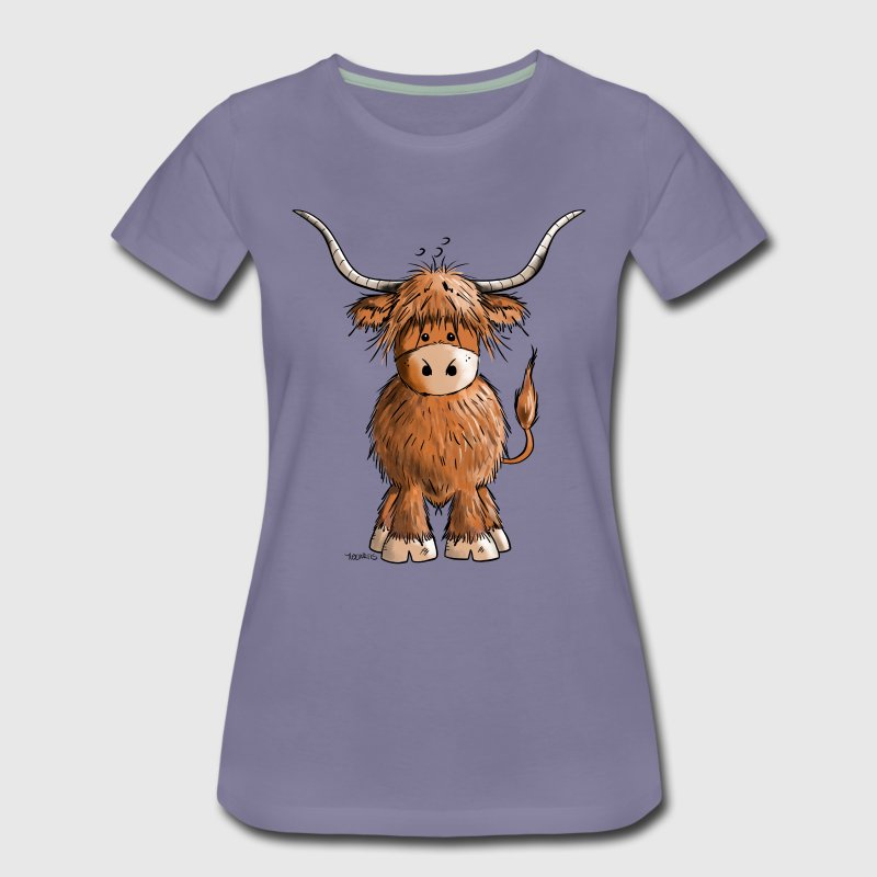 Scottish Highland Cattle T-Shirts - Women's Premium T-Shirt