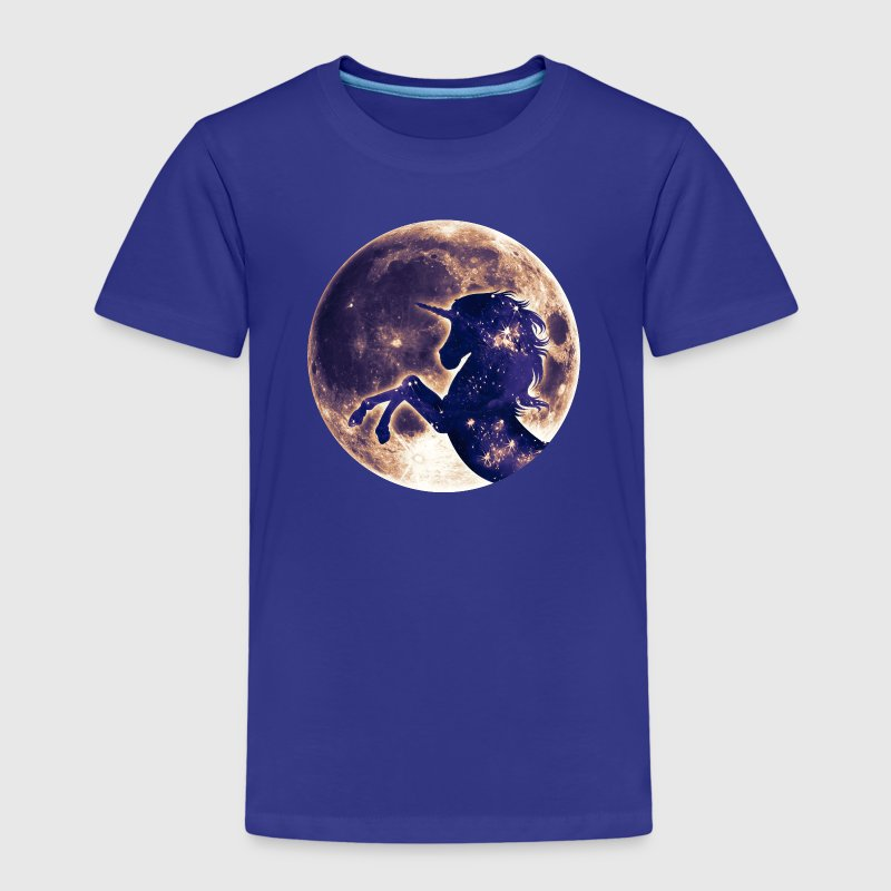 Unicorn full moon, galaxy, space, horse, fantasy S - Kids' Premium T-Shirt