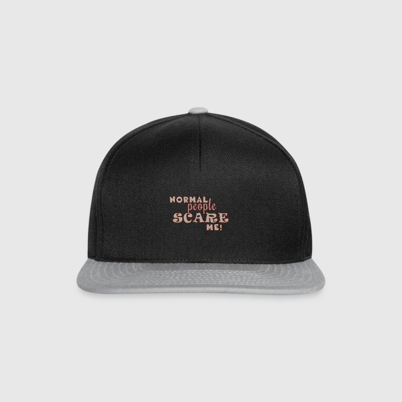 Normal People Scare Me Caps & Hats - Snapback Cap