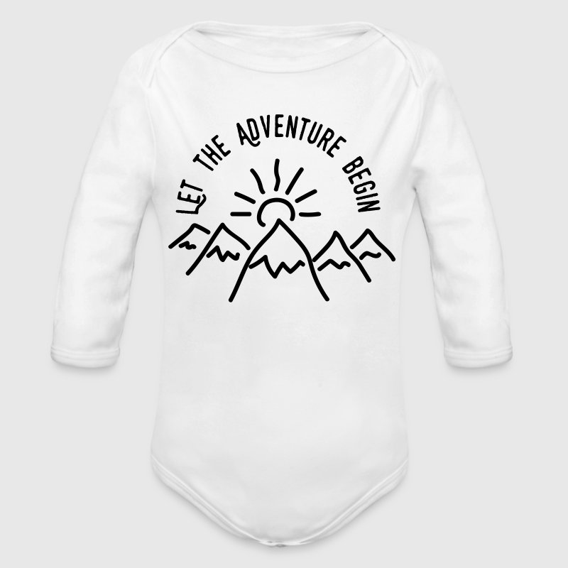 AD Let the Adventure Begin Baby Bodys - Baby Bio-Langarm-Body