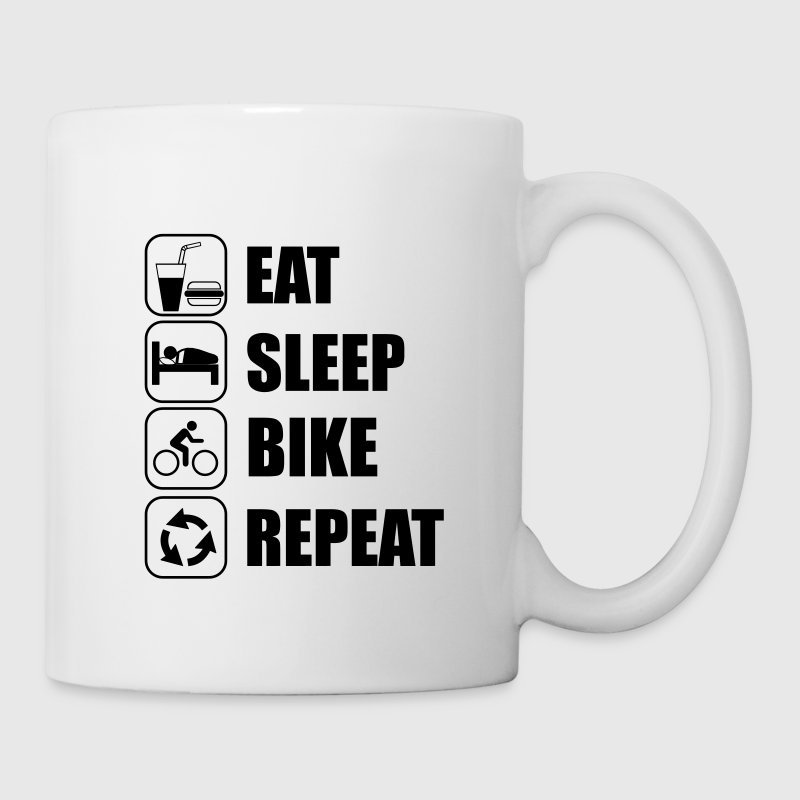 eat sleep bike repeat Bicicleta Ciclismo Tazas y accesorios - Taza