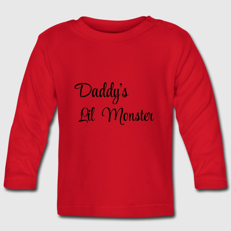 Daddy's little monster Tee shirts manches longues Bébés - T-shirt manches longues Bébé