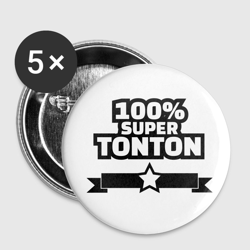 100% super tonton Badges - Badge petit 25 mm