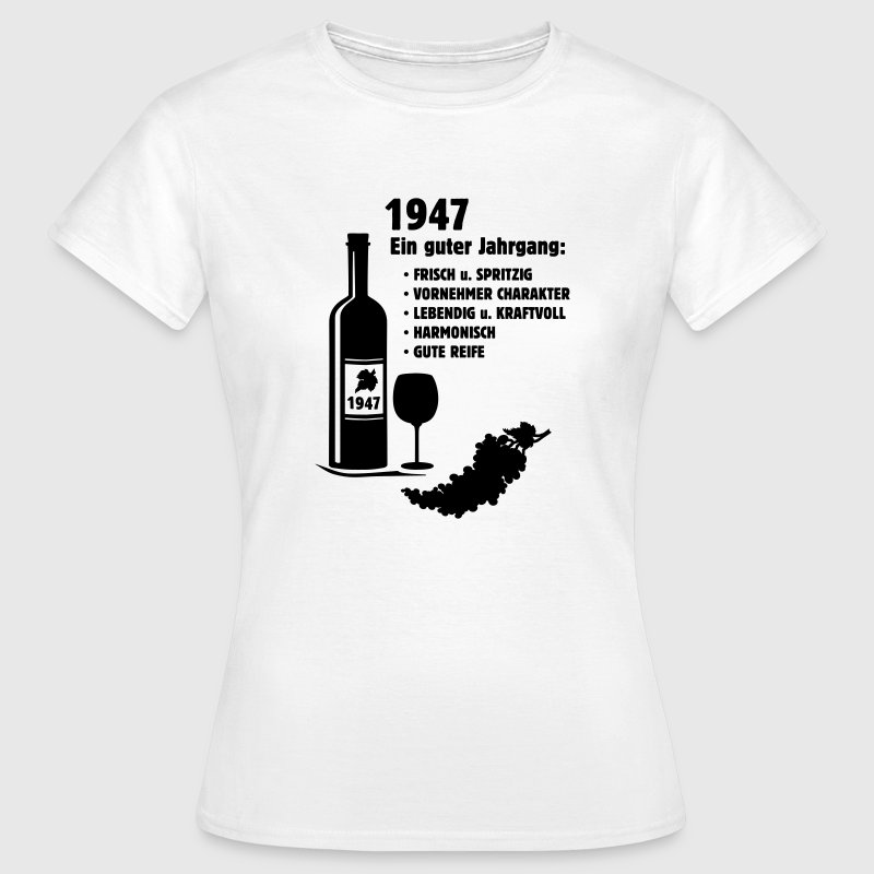 geburtstag jahrgang 1947 shirt selbst gestalten t shirt spreadshirt. Black Bedroom Furniture Sets. Home Design Ideas