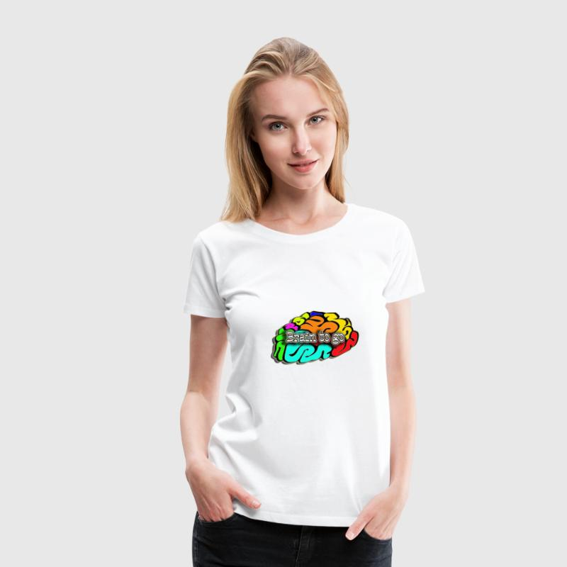 Brain to go Girls - Frauen Premium T-Shirt