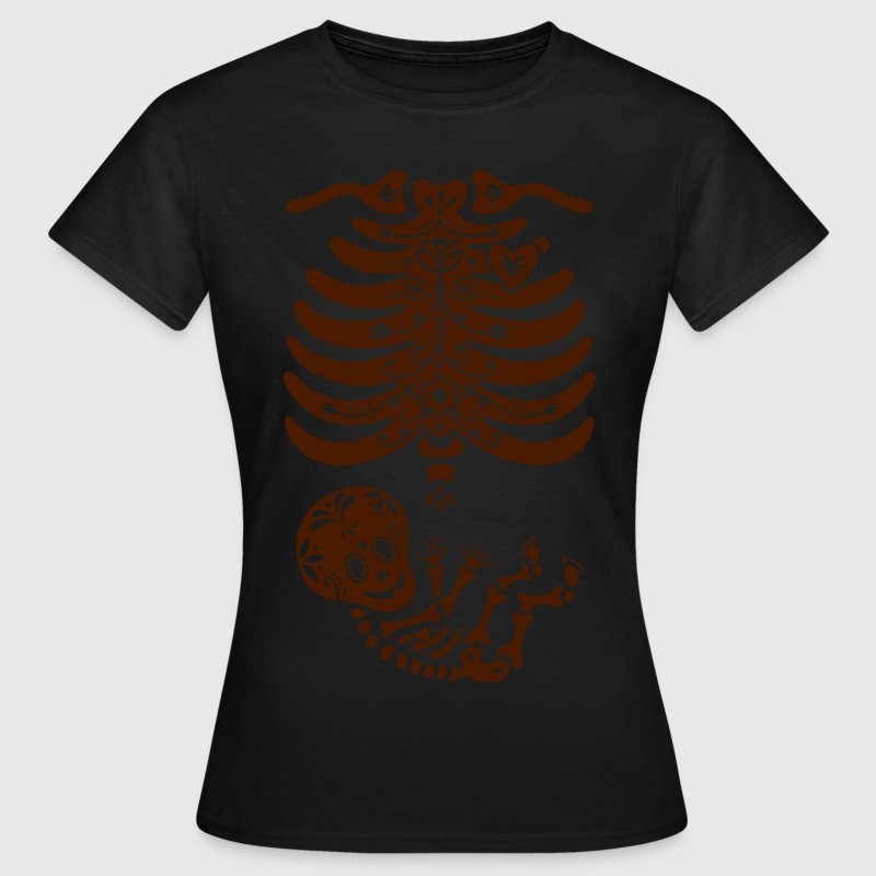 Sugar Skull skeleton - Non-maternity shirt - Women's T-Shirt