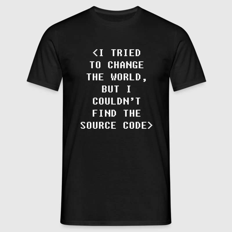 I Couldnt Find The Source Code Programmers T-shirt T-Shirts - Men's T-Shirt