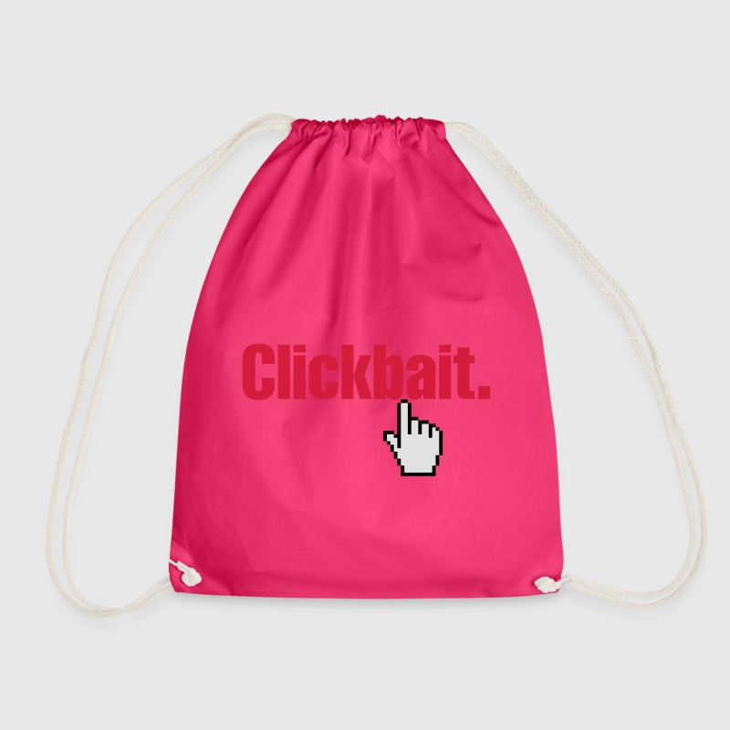 Clickbait. Bags & Backpacks - Drawstring Bag