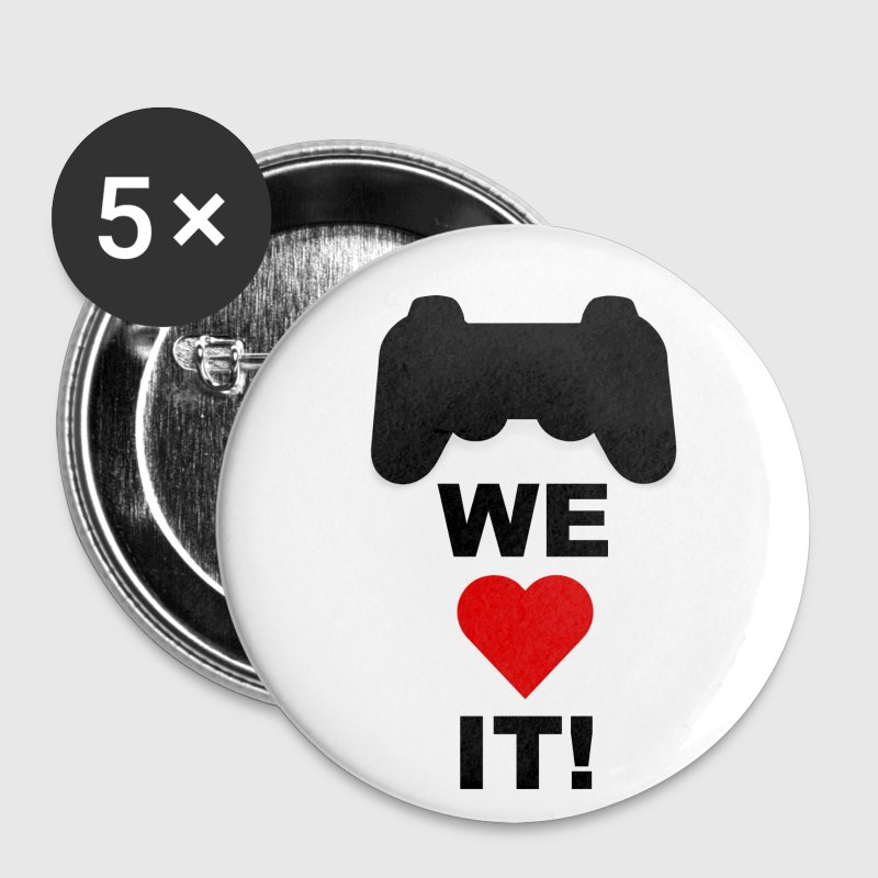 WE LOVE GAMING! - Buttons mittel 32 mm