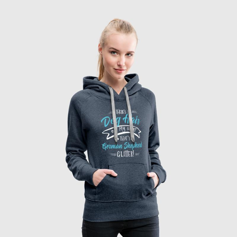 Glitter German Shepherd  Hoodies & Sweatshirts - Women's Premium Hoodie