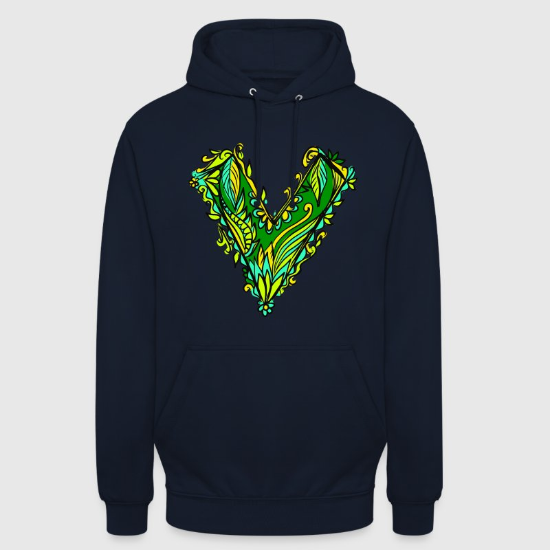 V like vegan, vegetarian, plant power, save earth Sweaters - Hoodie unisex