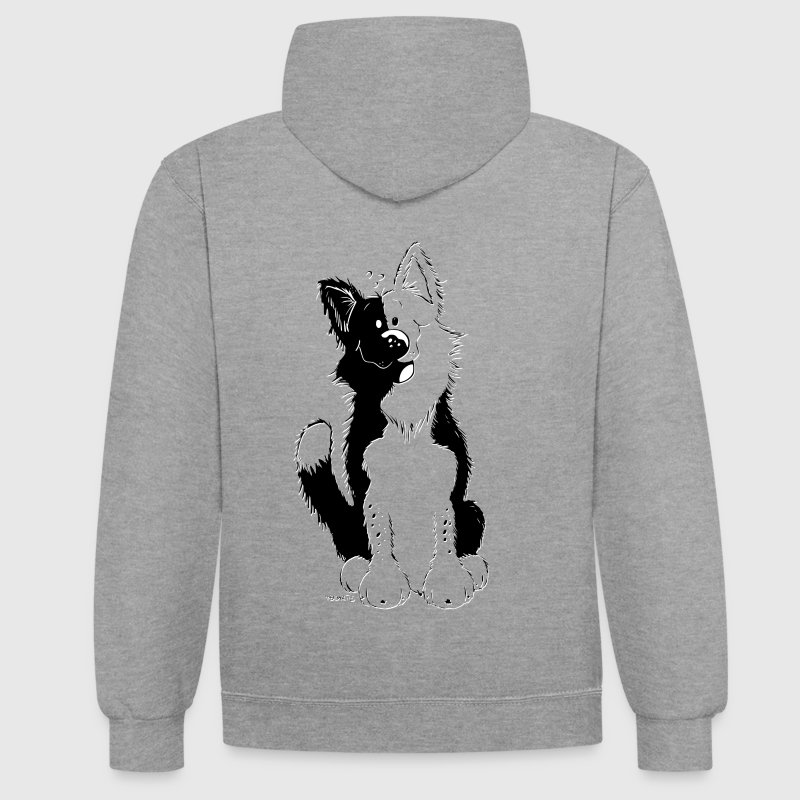 Cute Border Collie Sweat-shirts - Sweat-shirt contraste