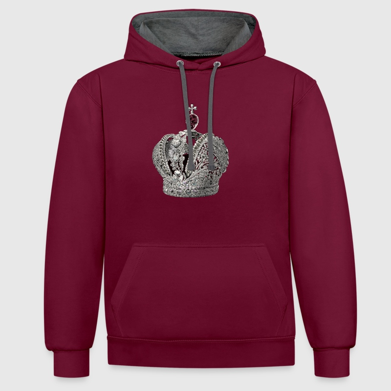 Crown Hoodies & Sweatshirts - Contrast Colour Hoodie