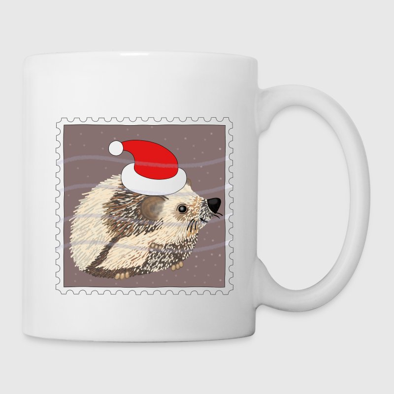 Christmas hedgehog stamp mug - Mug