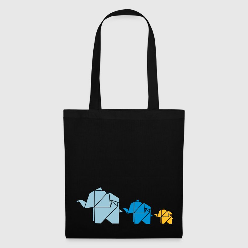 Origami, elephant, elefant, family, animal, cute Sacs et sacs à dos - Tote Bag