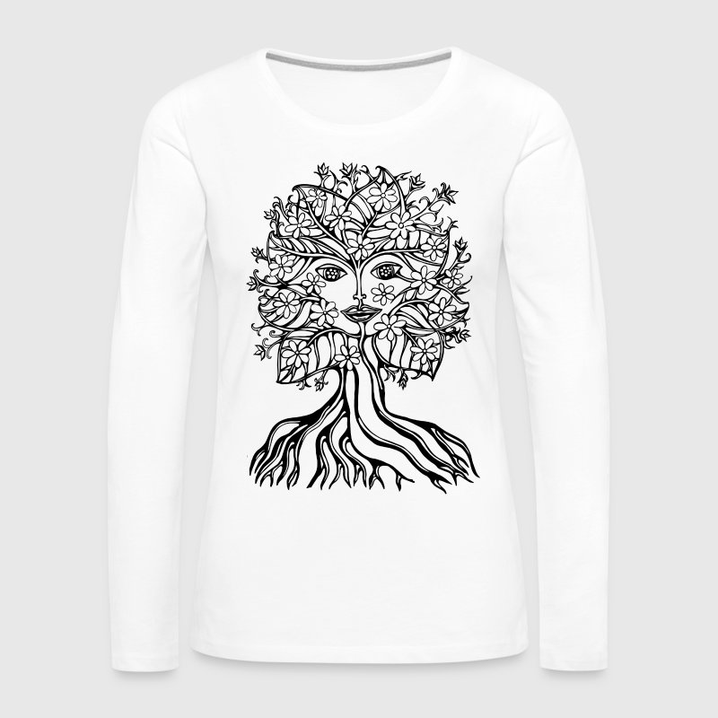 Tree fairy, save, earth, planet, forest, fantasy Long Sleeve Shirts - Women's Premium Longsleeve Shirt
