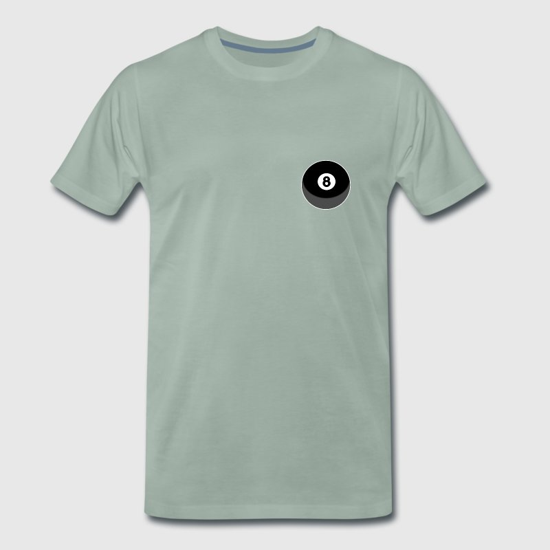Billard Ball No 8 - Männer Premium T-Shirt