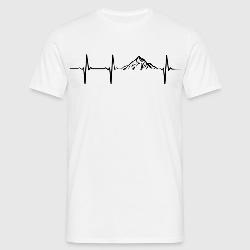 Heartbeat Mountains T-Shirts - Männer T-Shirt