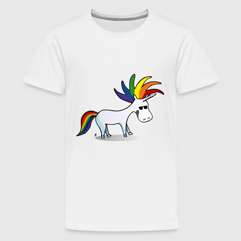 Punk Einhorn T-Shirts - Teenager Premium T-Shirt