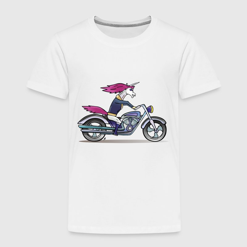 Badass Unicorn on a motorcycle Shirts - Kids' Premium T-Shirt