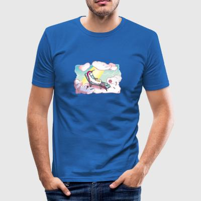 Happy unicorn in heaven Teddy Bear Toys - Men's Slim Fit T-Shirt