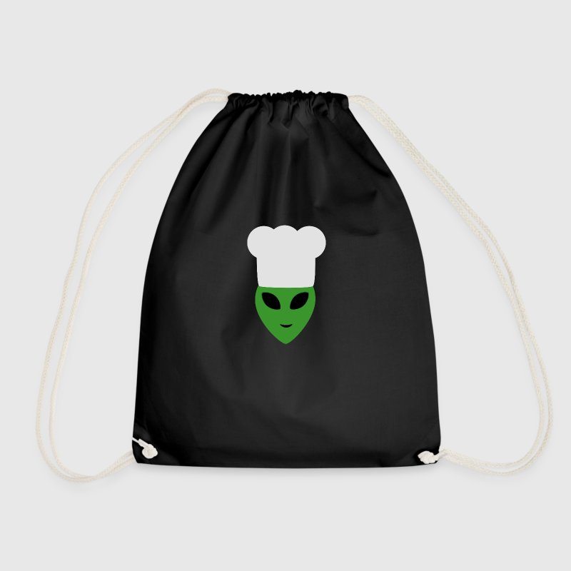 Alien chef Hat Bags & Backpacks - Drawstring Bag