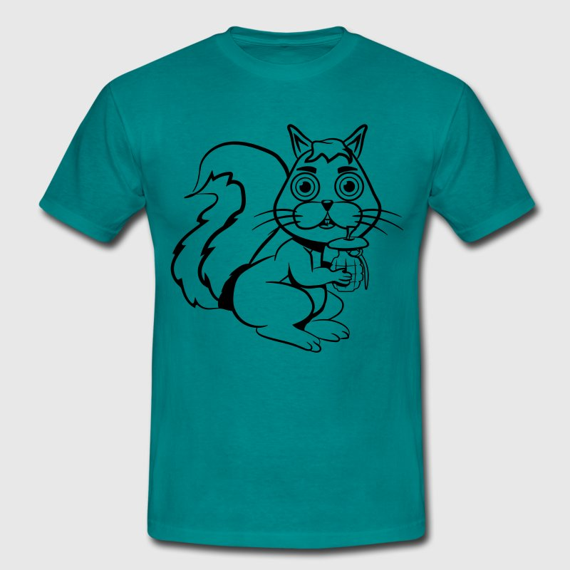 Squirrel handgranate funny T-shirts - Herre-T-shirt