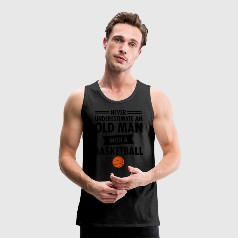 Old man basketball tank top spreadshirt for Old school basketball t shirts