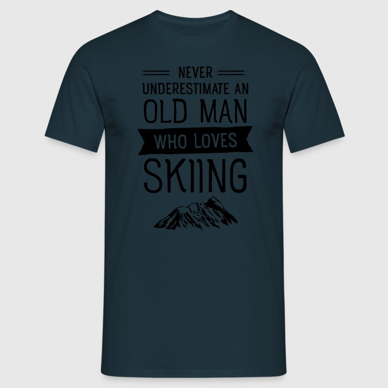 Old Man - Skiing (Vintage) T-skjorter - T-skjorte for menn