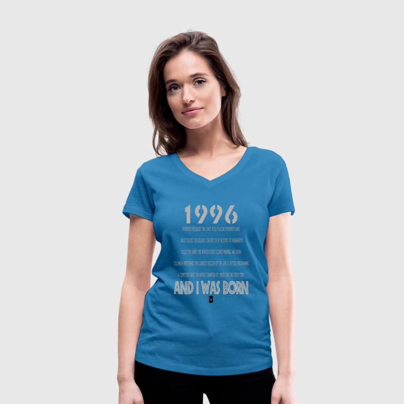1996 21st birthday - Women's Organic V-Neck T-Shirt by Stanley & Stella