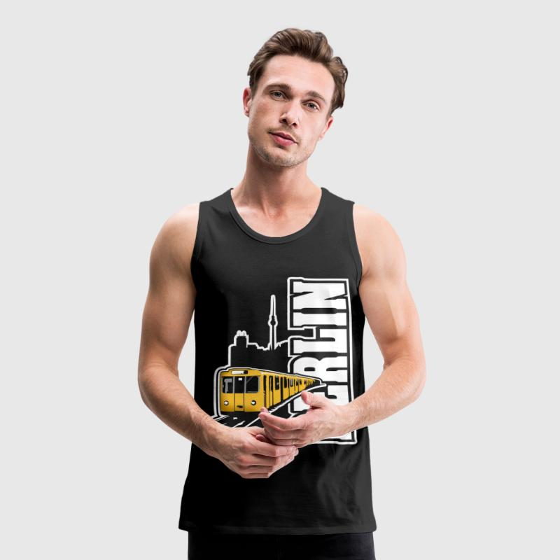 Berlin U-Bahn Color T-Shirts - Männer Premium Tank Top