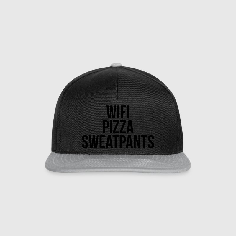WiFi Pizza Sweatpants Funny Quote Casquettes et bonnets - Casquette snapback