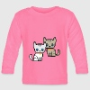 deux chat pixel Tee shirts manches longues Bébés - T-shirt manches longues Bébé