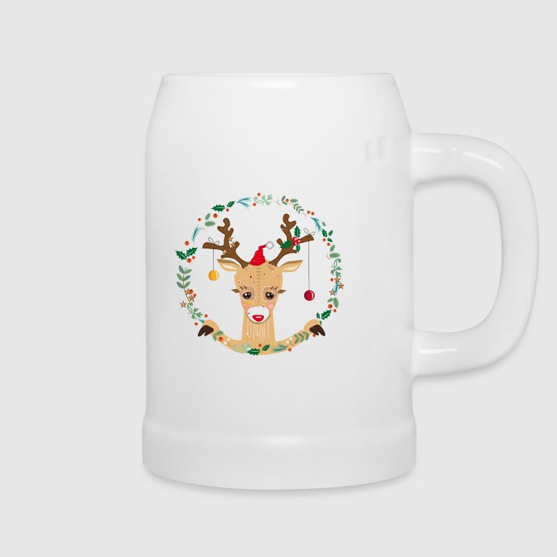 Cute reindeer Mugs & Drinkware - Beer Mug