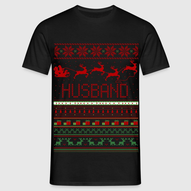 Husband Ugly Christmas Sweater Xmas T-Shirts - Men's T-Shirt