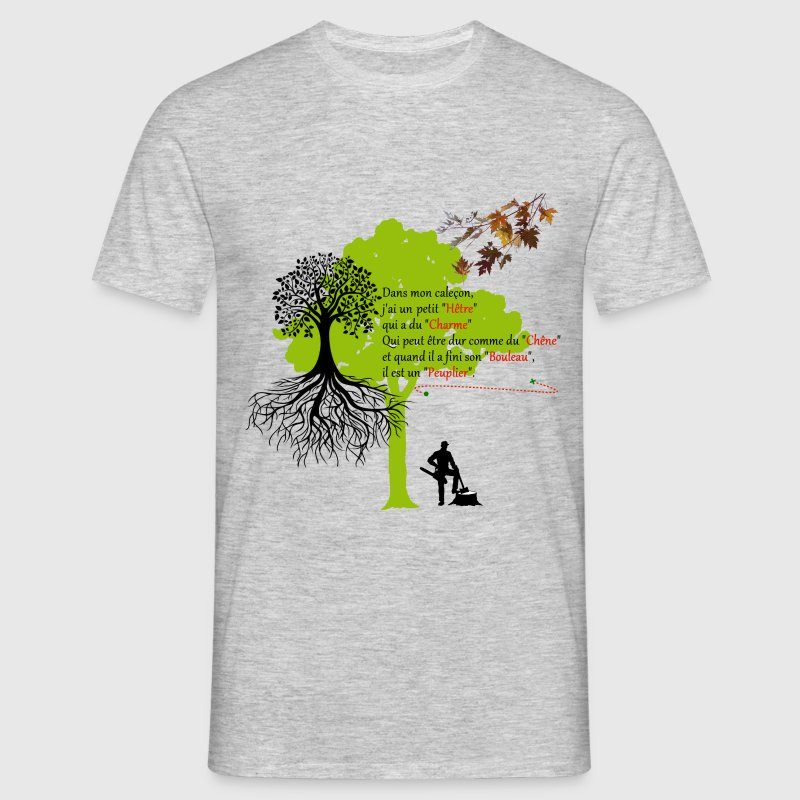 homme_arbres Tee shirts - T-shirt Homme